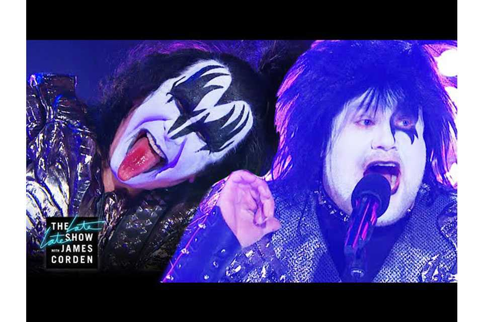 KISSが米テレビ番組〈The Late Late Show With James Corden〉でパフォーマンス