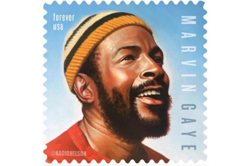 マーヴィン・ゲイの記念切手が4月2日に発売