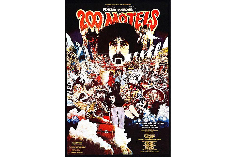 フランク・ザッパの映画『200モーテルズ』がボックスセットになってリリース