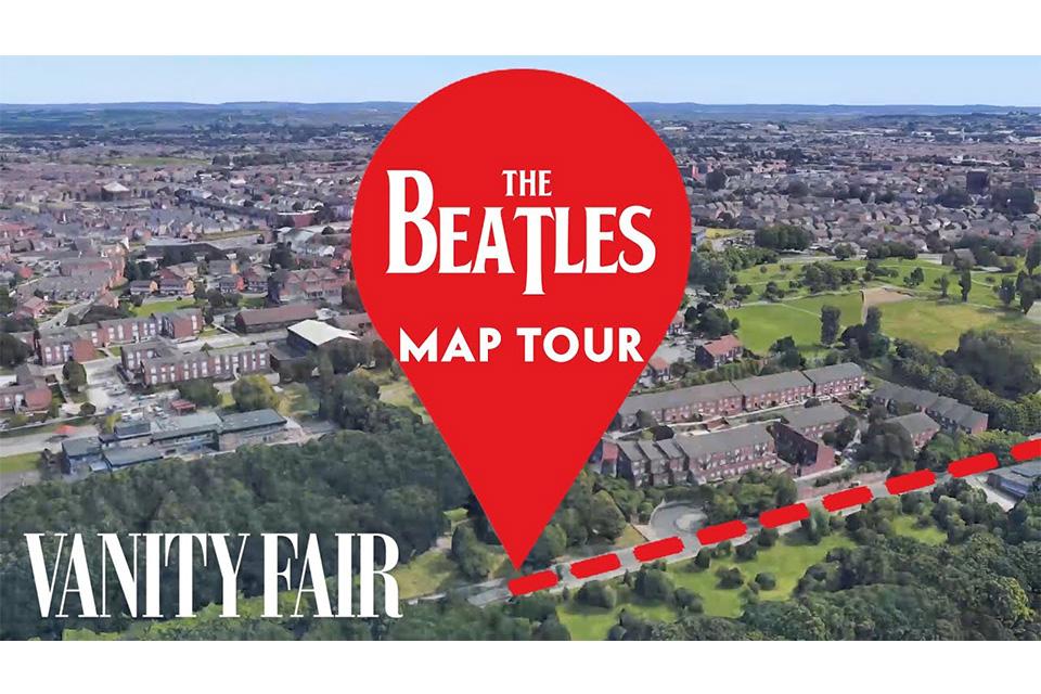 ビートルズの歌詞をガイドにグーグルマップで世界旅行