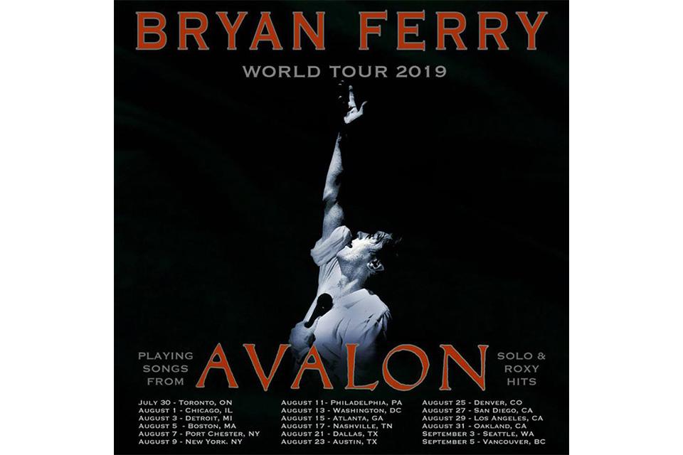 ブライアン・フェリーが北米ツアーの日程を発表