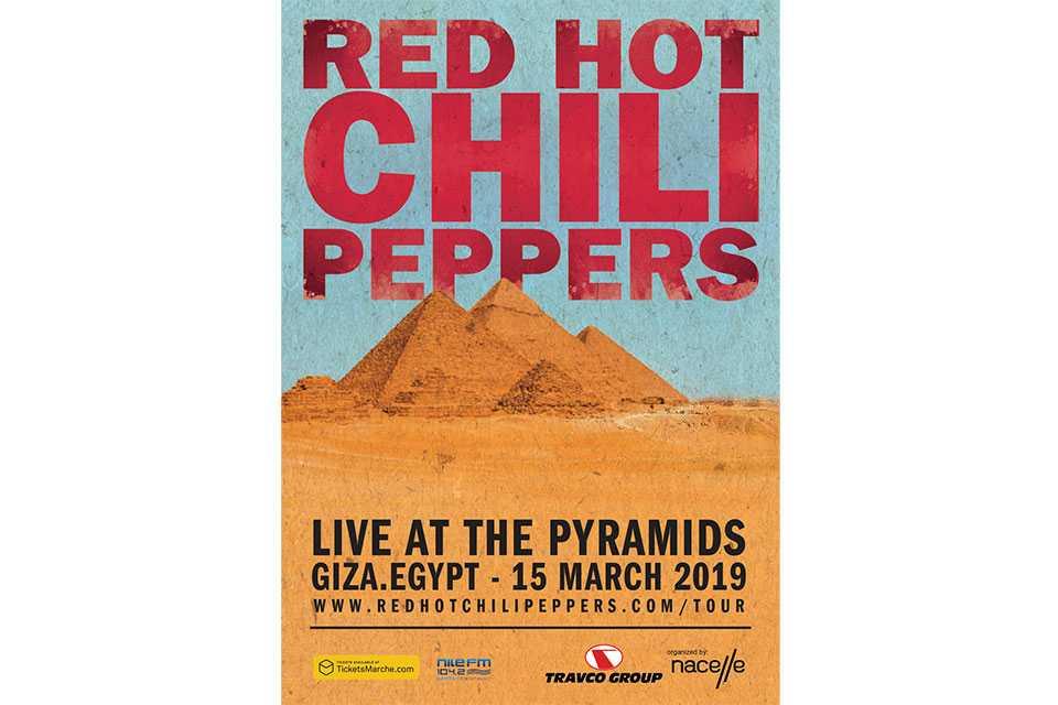 レッド・ホット・チリ・ペッパーズのピラミッド・コンサートがライヴ・ストリーミング