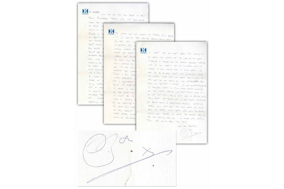 AC/DCの故ボン・スコットが1978年に書いた手紙がオークションに