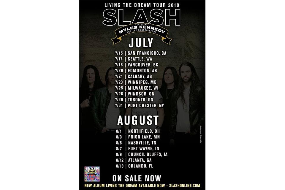 スラッシュが今年の北米ツアー日程を発表
