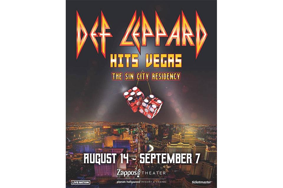 デフ・レパードがラスベガスのレジデンシー公演を発表、エアロスミスは追加公演を発表