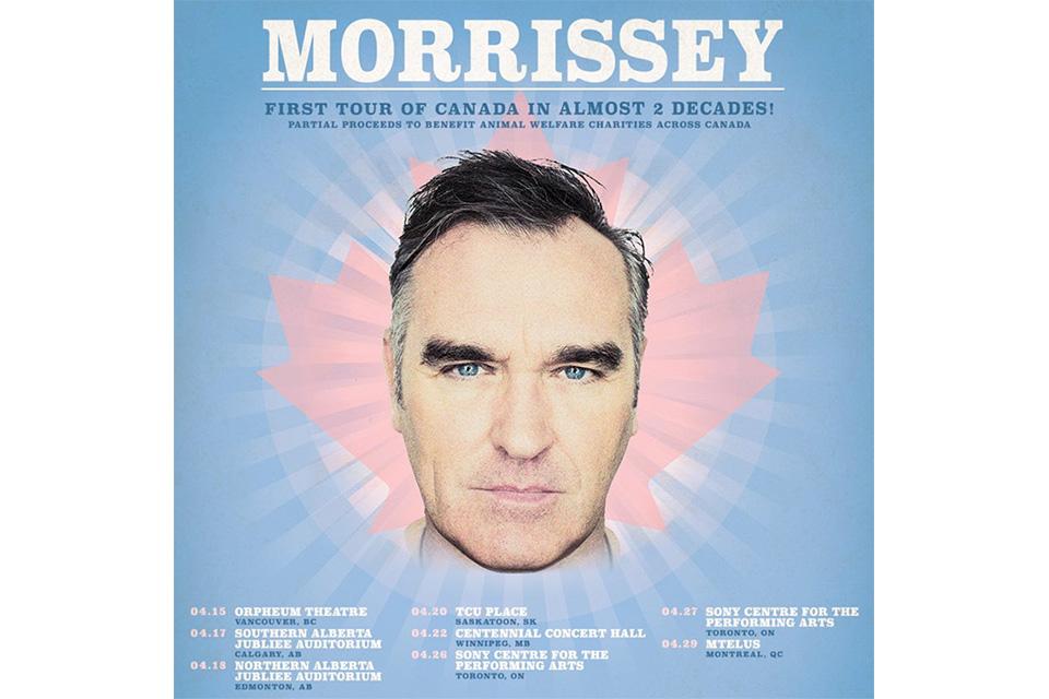 モリッシーが15年ぶりのカナダ・ツアーを発表