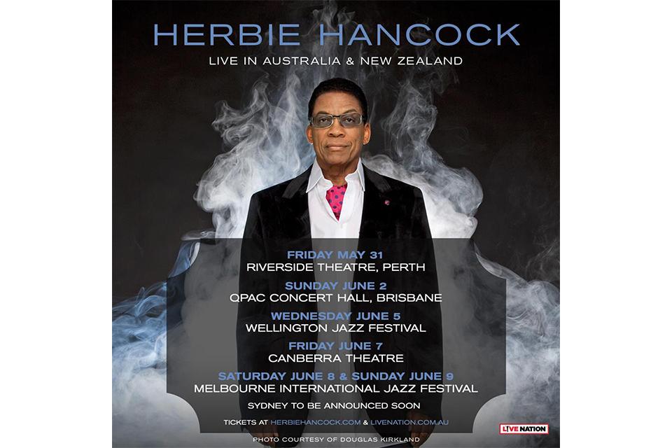 ジャズのレジェンド、ハービー・ハンコックがオーストラリア・ツアーを発表
