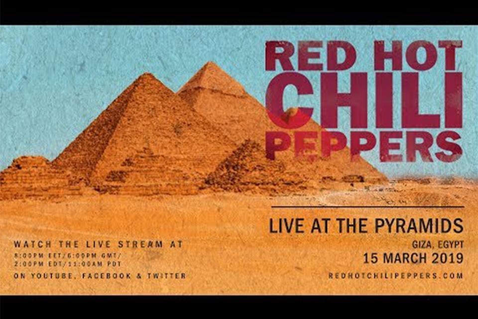 レッド・ホット・チリ・ペッパーズのピラミッド・コンサートがストリーミング配信