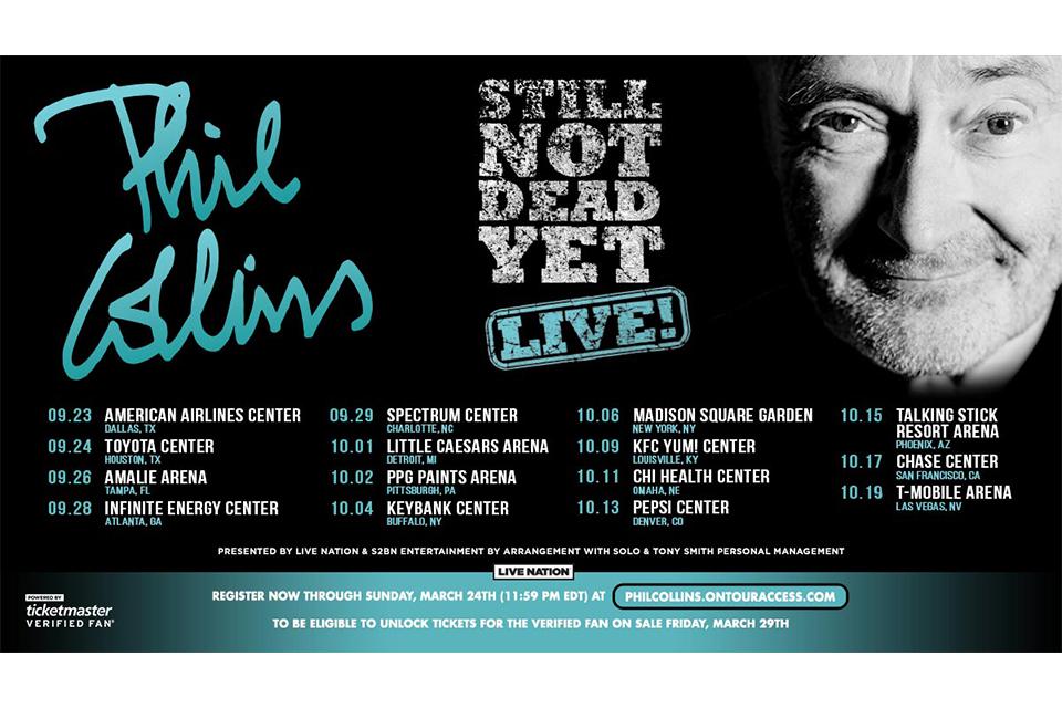 フィル・コリンズがUSツアーの日程を発表