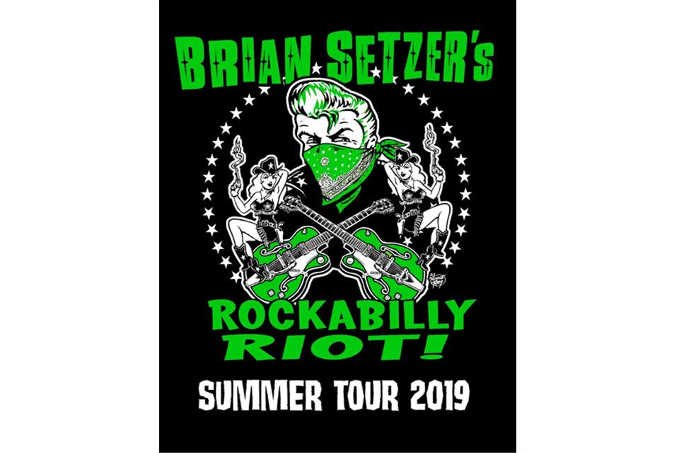 ストレイ・キャッツのブライアン・セッツァーがソロ・ツアーで一人二役