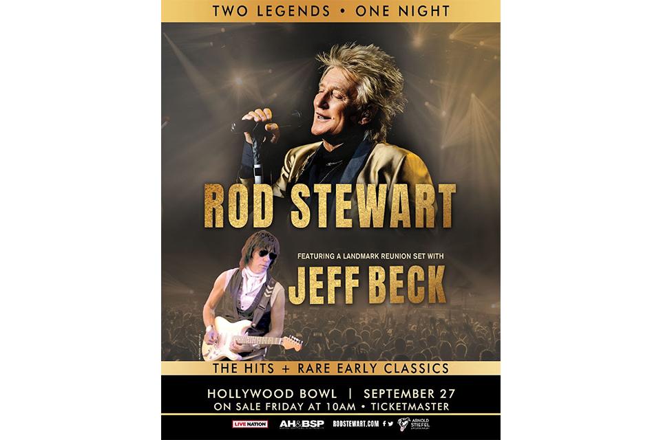 ロッド・スチュワートとジェフ・ベックが一夜限りのジョイント・コンサート