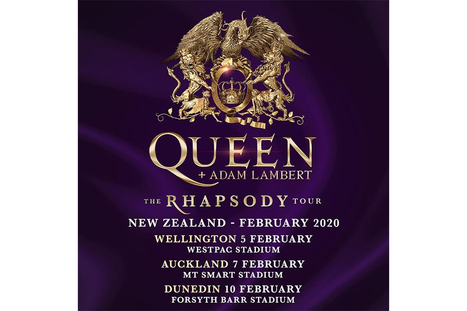 クイーン+アダム・ランバートの「ザ・ラプソディ・ツアー」、2020年ニュージーランド/オーストラリア・ツアーの日程が発表