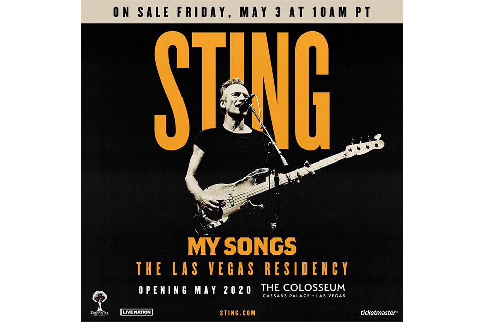 スティングが2020年のラスベガス・レジデンシー公演を発表