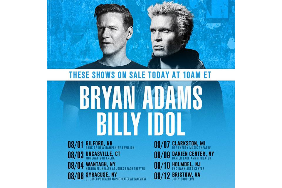 ビリー・アイドルとブライアン・アダムスが「C'mon Everybody」をデュエット