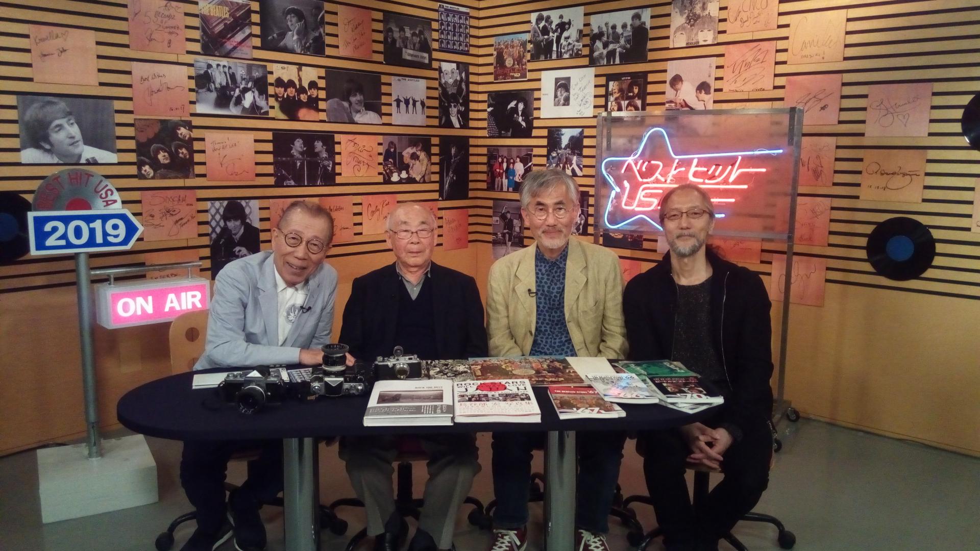 5月10日(金)放送『ベストヒット USA』のザ・ビートルズ特集にカメラマン長谷部宏が出演