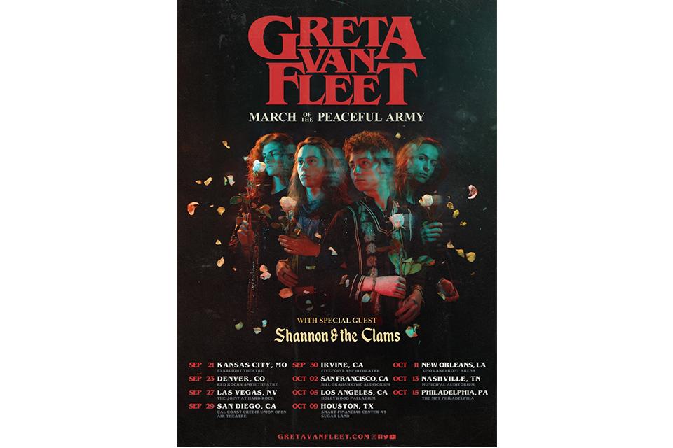 グレタ・ヴァン・フリートが最新ツアー日程を発表