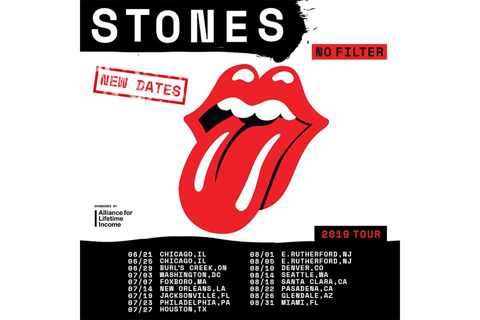 ローリング・ストーンズが再調整した北米ツアーの日程を発表