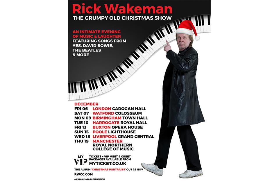 イエスのリック・ウェイクマンがクリスマス・ツアーを発表