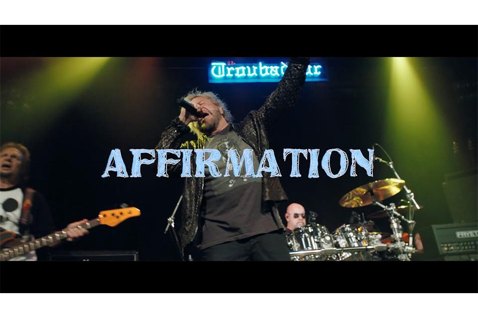 サミー・ヘイガーが短編映画に収録された新曲「Affirmation」のビデオを初公開