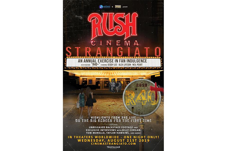 ラッシュの新たなコンサート映画が8月の一夜に限り世界各地で劇場公開