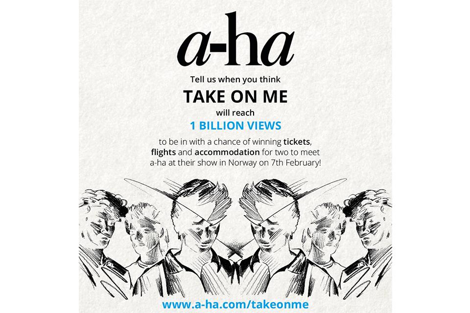 a-ha「テイク・オン・ミー」のビデオがYouTubeで、10億回視聴到達間近!