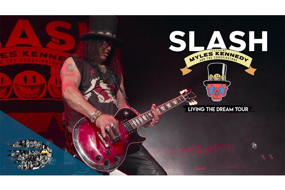 スラッシュ、ロンドン公演『Living The Dream Tour』のライヴ作品を9月にリリース