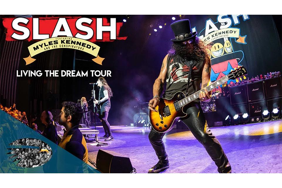 スラッシュのロンドン公演〈Living The Dream Tour〉新たなトレーラー映像公開