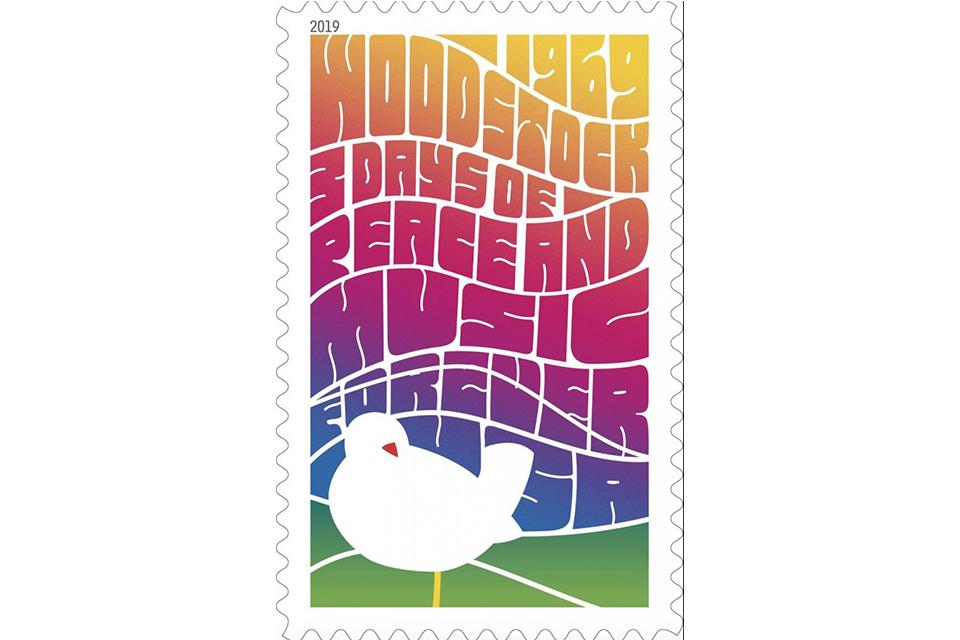 米国郵便公社が「ウッドストック・フェスティバル」の50周年記念切手を発行