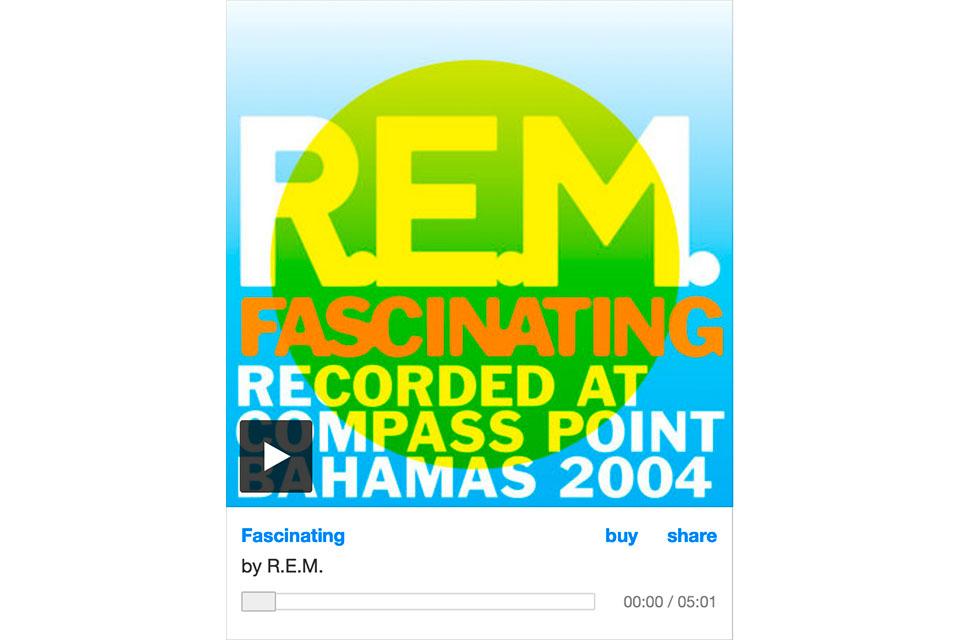 R.E.M.が未発表曲「Fascinating」をチャリティ・ソングとしてリリース