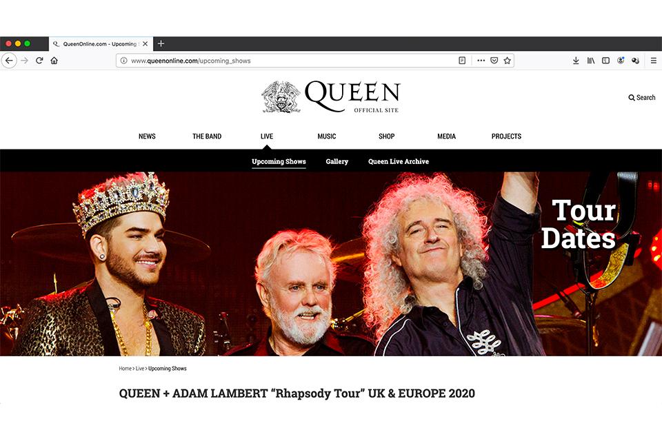 クイーン+アダム・ランバートが2020年のUK/ヨーロッパ・ツアーを発表