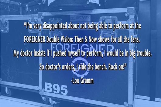 フォリナーのルー・グラム、健康問題のためリユニオン・ツアーを辞退