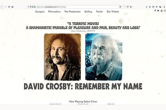デヴィッド・クロスビーのドキュメンタリー『Remember My Name』、海外でDVD/ブルーレイ発売