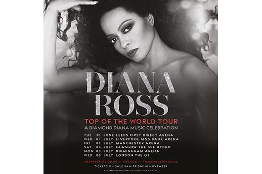 ダイアナ・ロスが2020年のUKツアーを発表