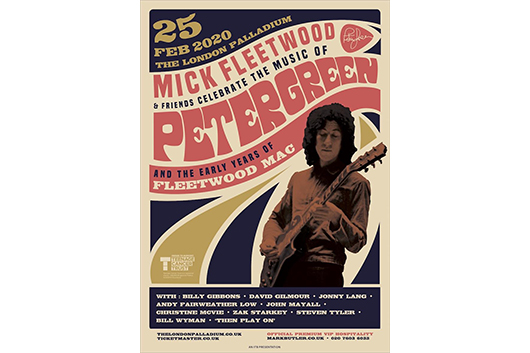 ミック・フリートウッドがピーター・グリーンのオールスター・トリビュート公演を発表