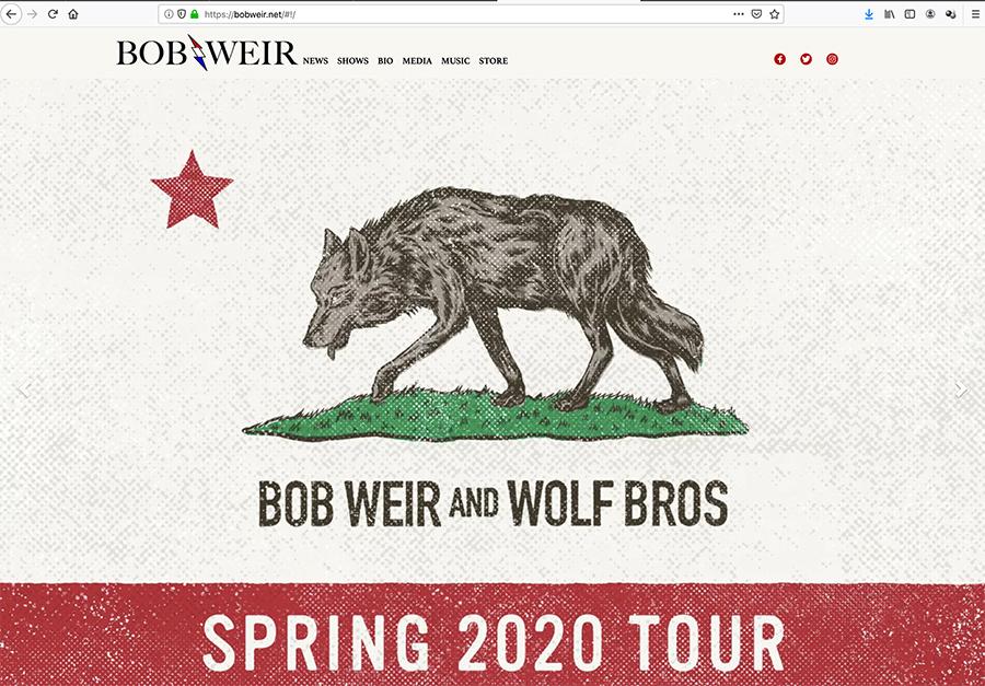 ボブ・ウィアー&ウルフ・ブロスが2020年の北米ツアーを発表