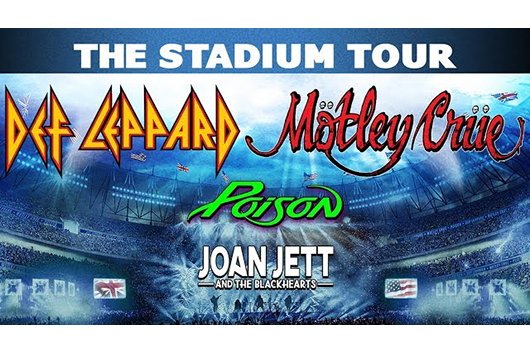 モトリー・クルー+デフ・レパード+ポイズンが北米スタジアム・ツアーを発表。特別ゲストにジョーン・ジェットも