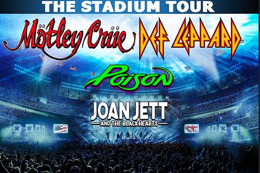 モトリー・クルー+デフ・レパード+ポイズンの北米スタジアム・ツアー、追加公演発表