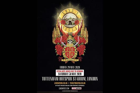 ガンズ・アンド・ローゼズ、2020年のヨーロッパ・ツアーにロンドン公演追加