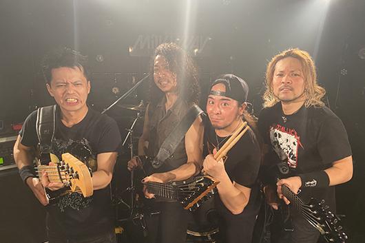 アジア唯一のメタリカ・トリビュート・バンド「HATTALLICA」のワールドツアーが決定!