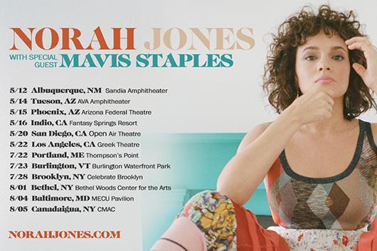 ノラ・ジョーンズのUSツアーにメイヴィス・ステイプルズが特別ゲストで出演