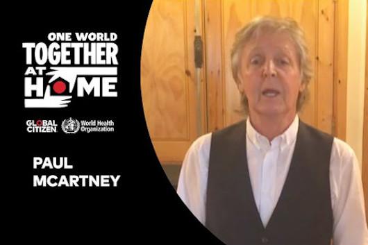 オンライン・チャリティ「One World : Together At Home」映像公開。ポール、エルトン、ガガ、ストーンズ登場