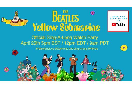 ビートルズの映画『Yellow Submarine』に合わせて歌うシング・アロング・イベント開催