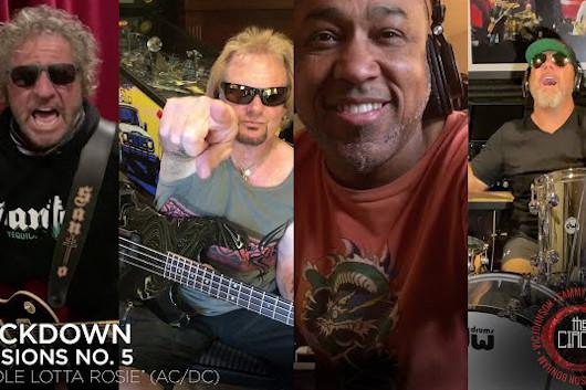 サミー・ヘイガー&ザ・サークル「ロックダウン・セッション」第5弾、AC/DC「Whole Lotta Rosie」を自宅でカヴァー