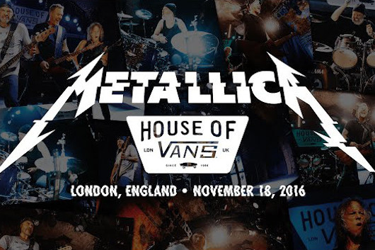メタリカの週刊映像配信シリーズ「#MetallicaMondays」、第7弾は2016年ロンドンのクラブ・ギグ