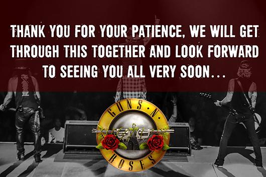 ガンズ・アンド・ローゼズ、ヨーロッパ・ツアーの中止を発表