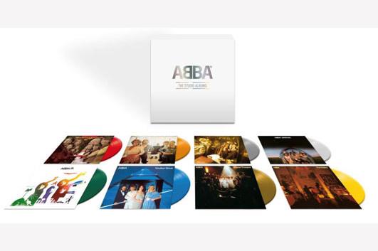 ABBAの全スタジオ・アルバムを8枚組カラー・ヴァイナルに収録したボックスセット発売