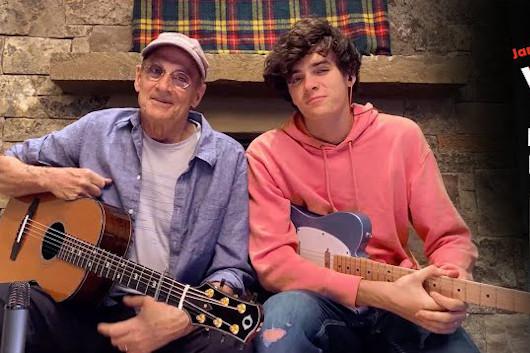 ジェイムス・テイラー、息子と「Moon River」を自宅でカヴァー