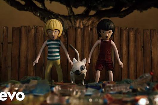 ユスフ(キャット・スティーヴンス)「子供達の園はどこへ?」、再生物資を使用したアニメーション・ビデオ公開