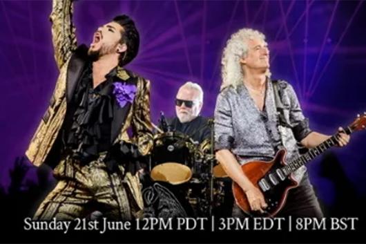 クイーン+アダム・ランバート、ライヴ映像を配信する「Tour Watch Party」6月22日開催