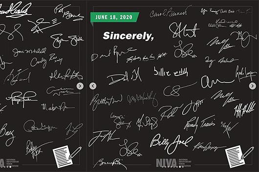 多数の大物ミュージシャンがライヴ会場への支援を求める公開書簡に署名
